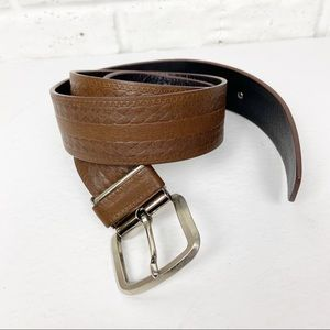 JACOB. Finest Cowhide Embossed Leather Belt